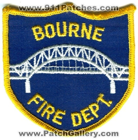 Bourne Fire Department Patch Massachusetts MA