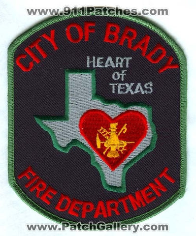 Brady Fire Department Patch Texas TX
