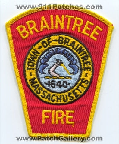 Braintree Fire Department Patch Massachusetts MA