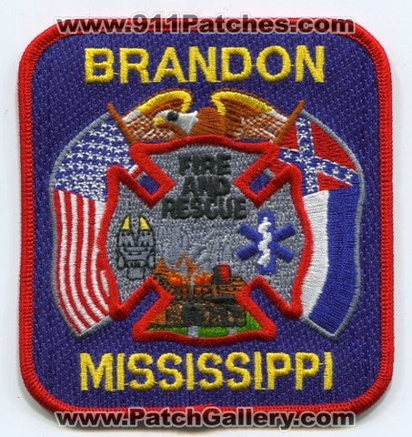 Brandon Fire and Rescue Department Patch Mississippi MS