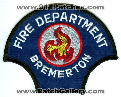 Bremerton Fire Department Patch Washington WA