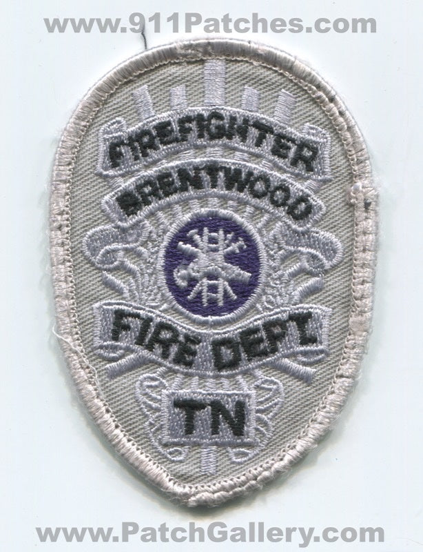 Brentwood Fire Department Firefighter Patch Tennessee TN