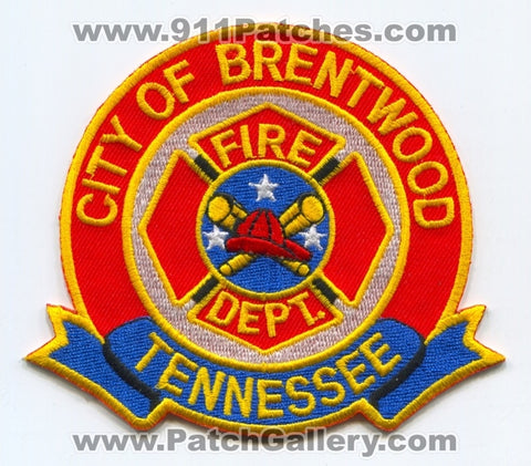 Brentwood Fire Department Patch Tennessee TN