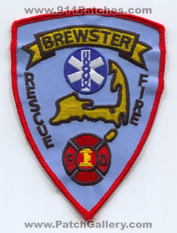 Brewster Fire Rescue Department Patch Massachusetts MA