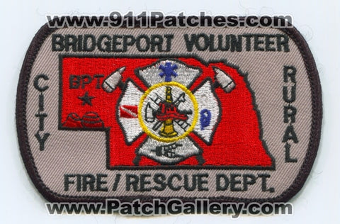 Bridgeport City Rural Volunteer Fire Rescue Department Patch Nebraska NE