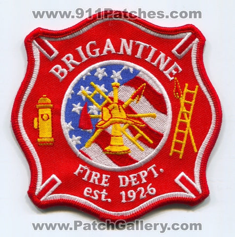 Brigantine Fire Department Patch New Jersey NJ