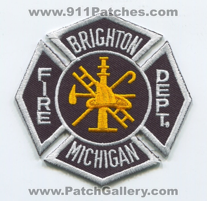 Brighton Fire Department Patch Michigan MI
