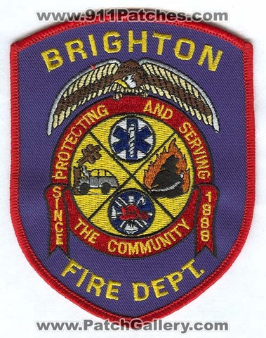 Brighton Fire Department Patch Colorado CO
