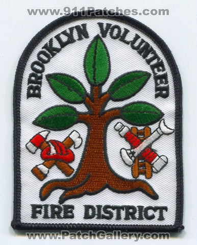 Brooklyn Volunteer Fire District Patch Wisconsin WI
