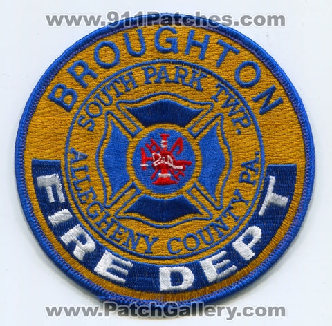 Broughton Fire Department Patch Pennsylvania PA