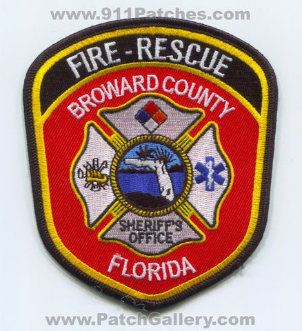 Broward County Fire Rescue Department Sheriffs Office Patch Florida FL