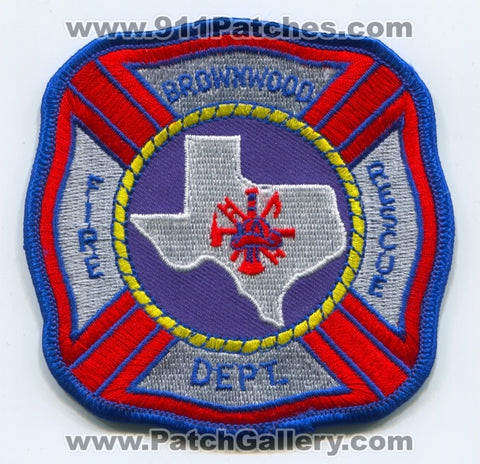 Brownwood Fire Rescue Department Patch Texas TX