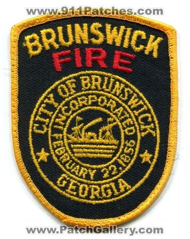 Brunswick Fire Department Dept FD Rescue EMS Patch Georgia GA Patches OLD USED