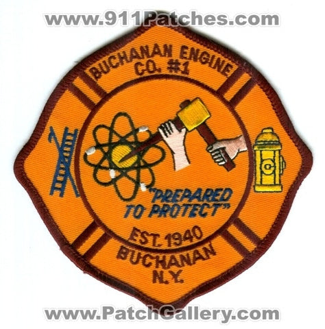 Buchanan Fire Department Engine Company Number 1 Patch New York NY