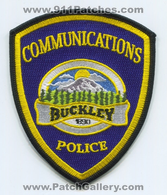 Buckley Police Department Communications 911 Dispatcher Fire EMS Patch Washington WA