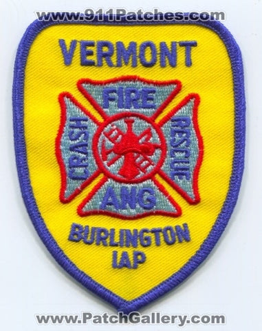 Burlington International Airport Crash Fire Rescue Department ANG USAF Military Patch Vermont VT