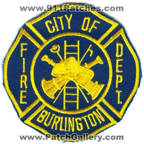 Burlington Fire Department Patch New Jersey NJ