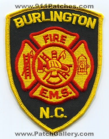 Burlington Fire Department Patch North Carolina NC