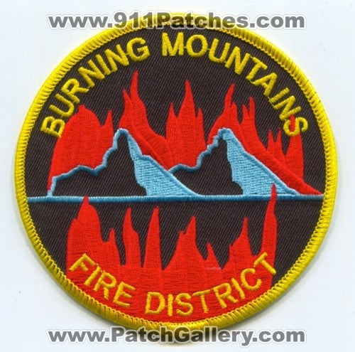 Burning Mountains Fire District Patch Colorado CO