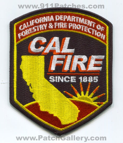 California Department of Forestry and Fire Protection CAL Patch California CA