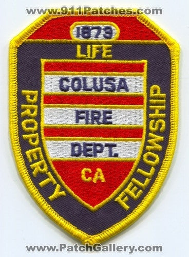 Colusa Fire Department Patch California CA