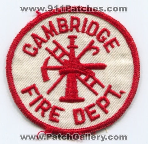 Cambridge Fire Department Patch Unknown State