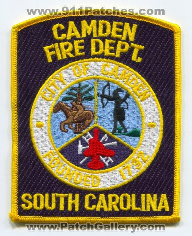Camden Fire Department Patch South Carolina SC