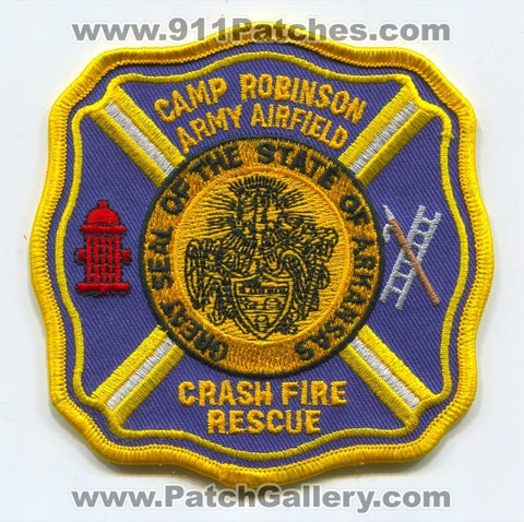 Camp Robinson Army Airfield Crash Fire Rescue CFR Department Patch Arkansas AR