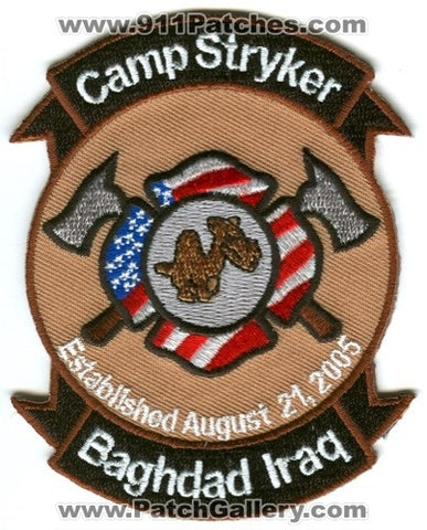 Iraq - Camp Stryker Fire Department Military Patch