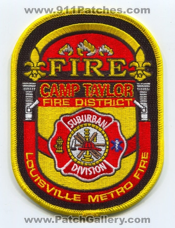 Camp Taylor Fire Protection District Louisville Metro Suburban Division Patch Kentucky KY