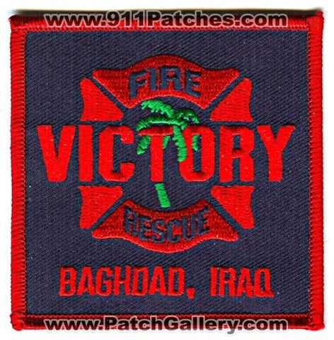 Iraq - Victory Fire Rescue Department Baghdad Military Patch