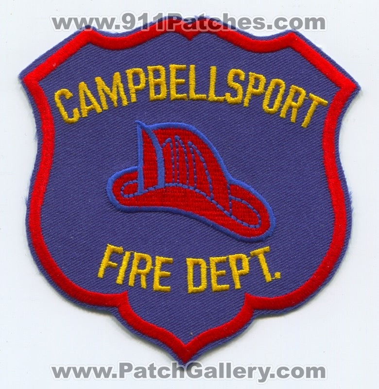 Campbellsport Fire Department Patch Wisconsin WI