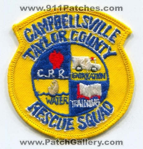 Campbellsville Taylor County Rescue Squad EMS Patch Kentucky KY