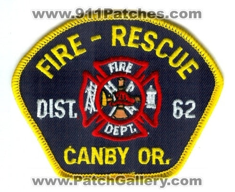 Canby Fire Rescue Department District 62 Patch Oregon OR
