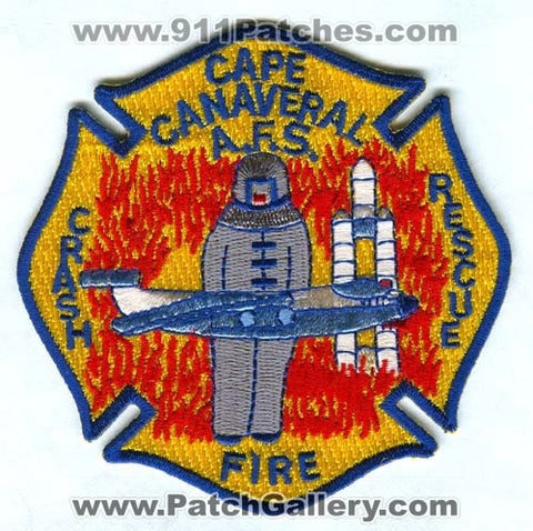Cape Canaveral Air Force Station AFS Crash Fire Rescue USAF Military Patch Florida FL SKUFC10