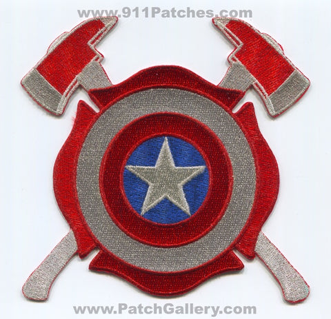 Captain America Fire Department Marvel Comics Patch No State Affiliation