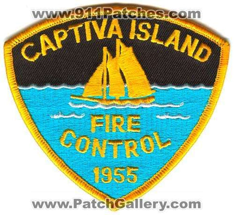 Captiva Island Fire Control Department Patch Florida FL