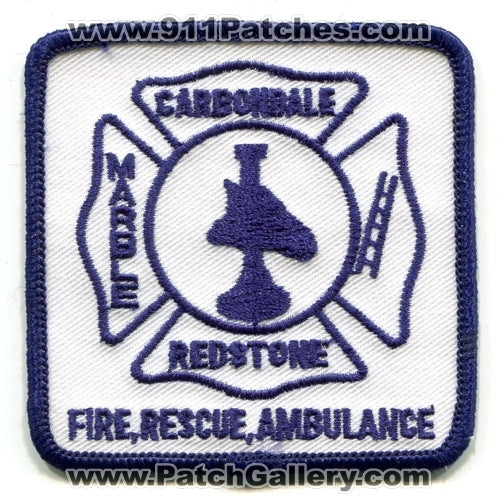 Carbondale Redstone Marble Fire Rescue Ambulance Department Patch Colorado CO