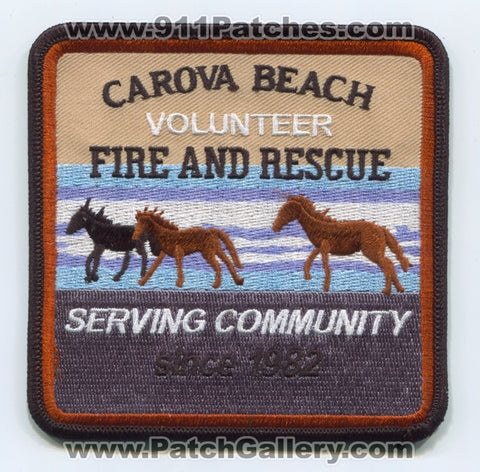 Carova Beach Volunteer Fire and Rescue Department Patch North Carolina NC
