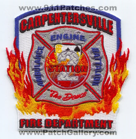 Carpentersville Fire Department Station 2 Patch Illinois IL