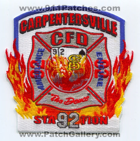 Carpentersville Fire Department Station 92 Patch Illinois IL