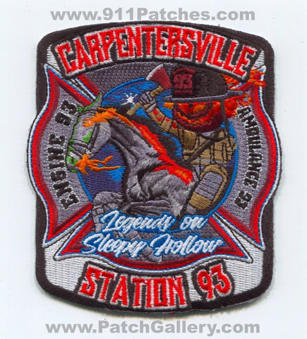 Carpentersville Fire Department Station 93 Patch Illinois IL