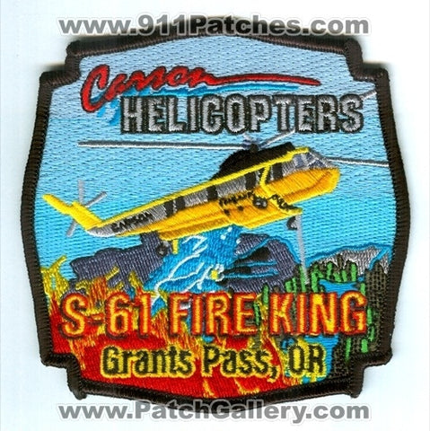 Carson Helicopters S-61 Fire King Helicopter Grants Pass Patch Oregon OR