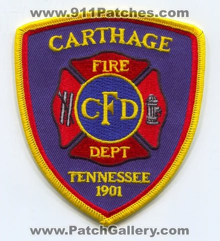Carthage Fire Department Patch Tennessee TN