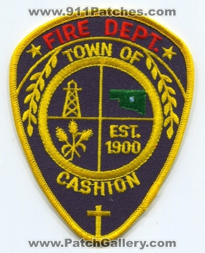 Cashion Fire Department Patch Oklahoma OK