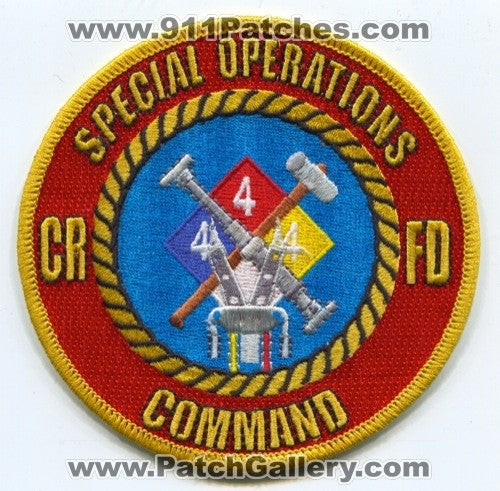 Castle Rock Fire Rescue Dept CRFD Special Operations Command Patch Colorado CO