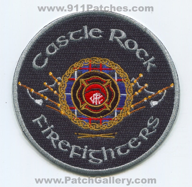 Castle Rock Fire Department Firefighters Pipes and Drums Patch Colorado CO
