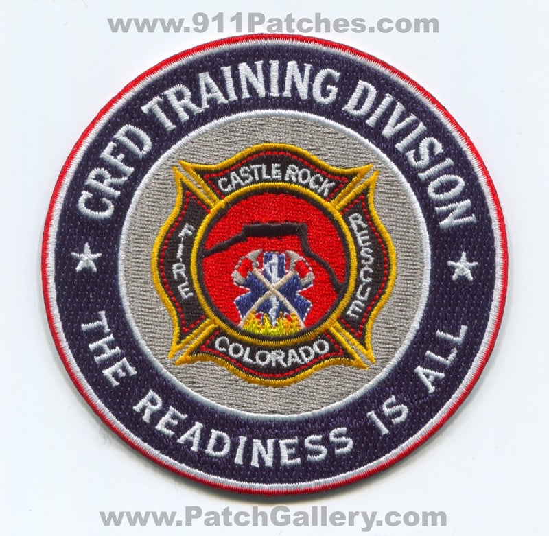Castle Rock Fire Rescue Department Training Division Patch Colorado CO