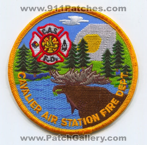 Cavalier Air Station CAS Fire Department USAF Military Patch North Dakota ND