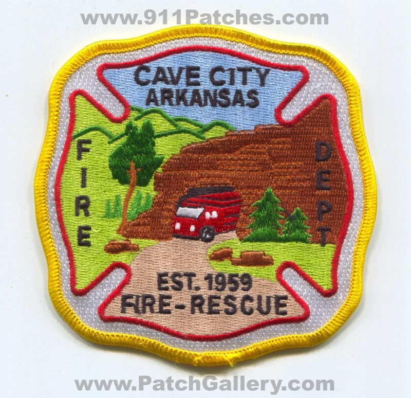 Cave City Fire Rescue Department Patch Arkansas AR